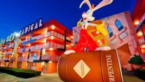 Roger Rabbit in the 1980s-themed area of Disney's Pop Century Resort